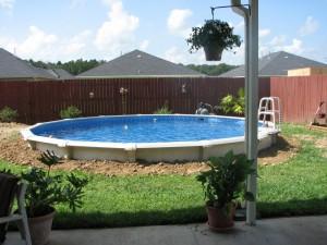 Заглубление сборного или каркасного бассейна в грунт